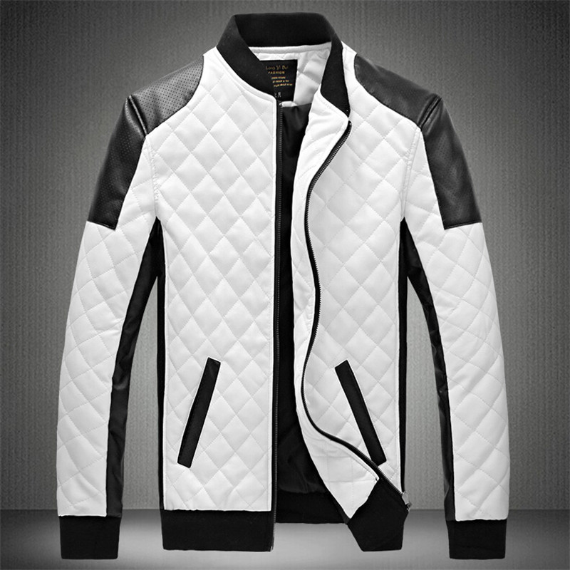 Popular Mens White Leather Jackets-Buy Cheap Mens White Leather