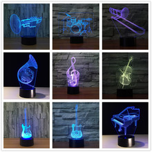 3D Musical Instruments Led Night Lamps
