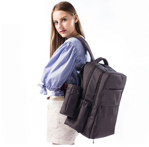ФОТО Fashion Europe style baby diaper bag backpack big capacity mother dad backpack Breathable travel nappy changing bag stroller bag
