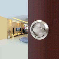 Stainless steel 304 cup handle recessed door handles cabinet invisible pull handle fire proof set free shipping KF190