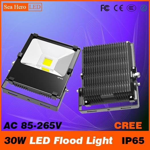 ФОТО 30W LED spot light Bulkhead lamp Professional Industrial lighting 100-120degree IP65 AC 85-265V Cree chips COB or 2835