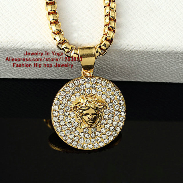 J style New Arrivals Fashion Design Men and women Necklace 24k gold