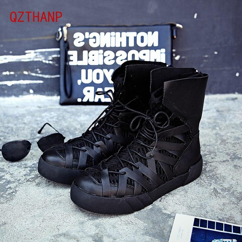 2018 Winter Boots Men Popular Trend Sneakers Outdoor Casual Luxury Shoes Botas Hombre Tenis ayakkabi Zip PU Ankle Boots Schuhe popular white cattle hide zip womens sneakers
