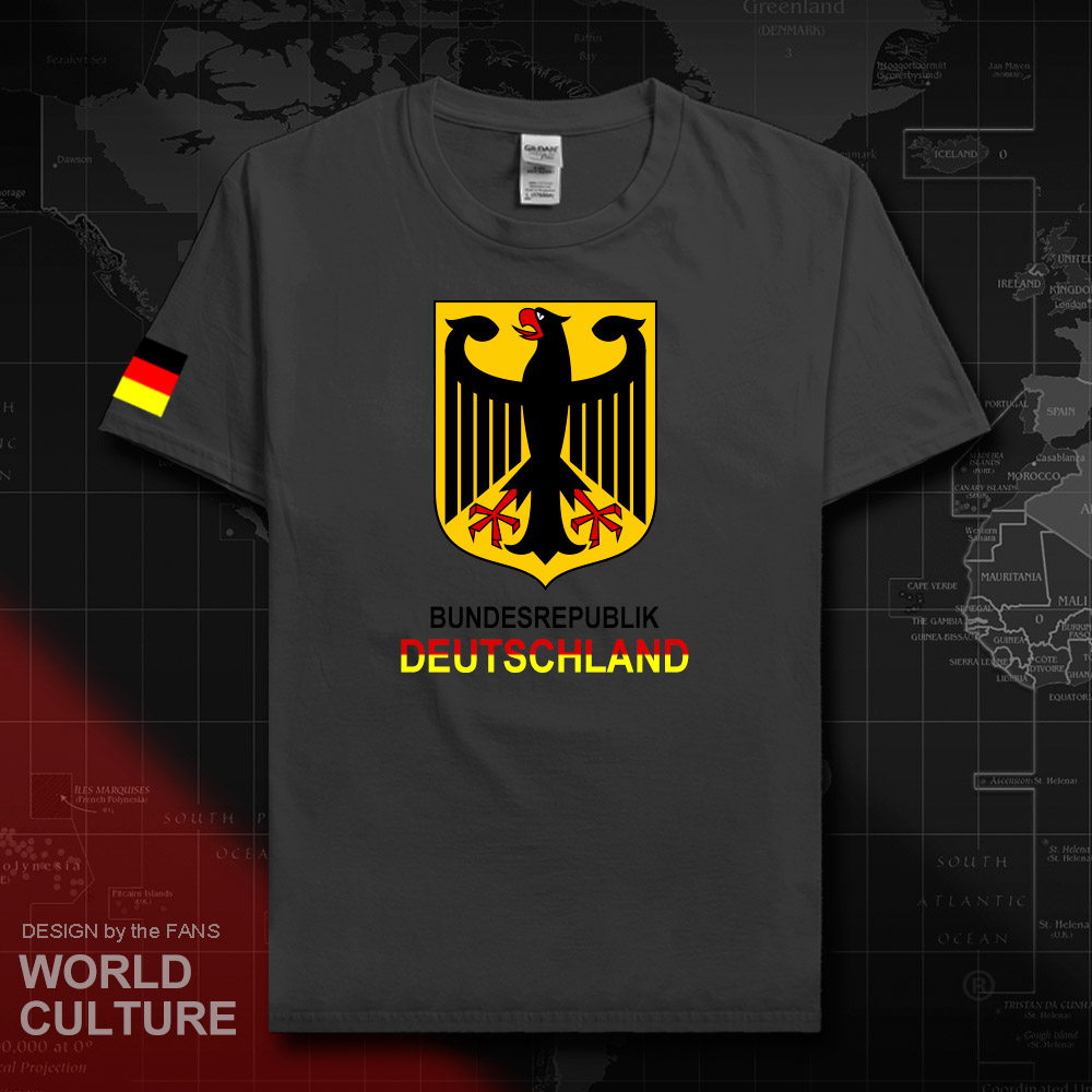 Germany <font><b>Deutschland</b></font> t shirt man jerseys 2018 t-shirt cotton nation team tee 100% cotton sporting meeting fans fitness tees 20 image