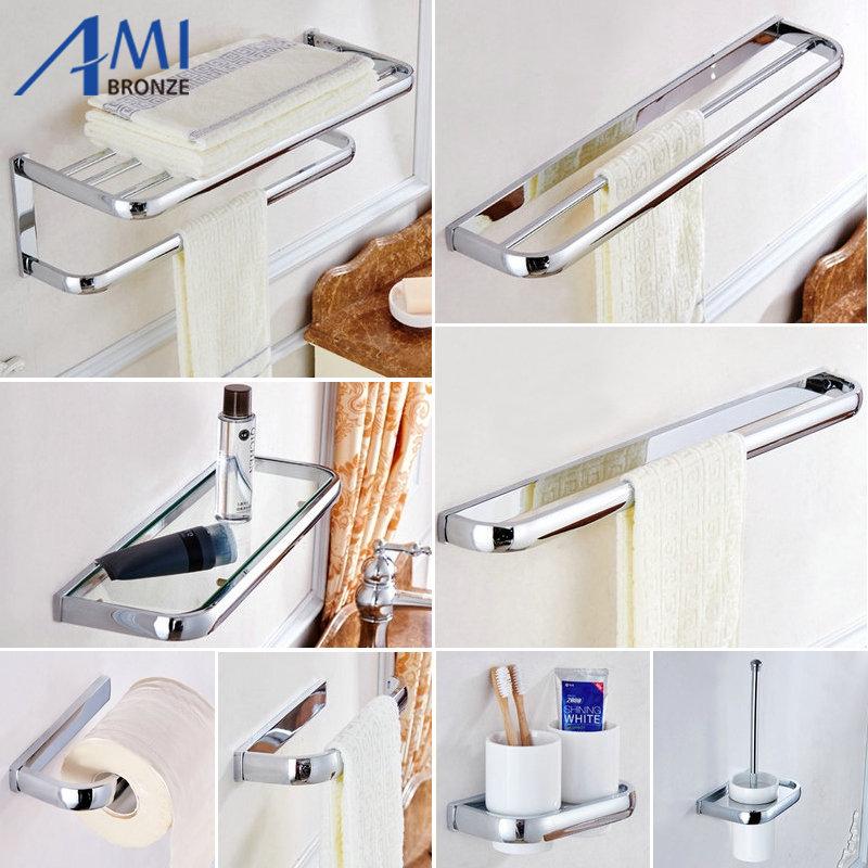 Fz Series Chrome Polished Thicker Bathroom Accessories Bath Hardware Set Towel Shelf Towel Bar