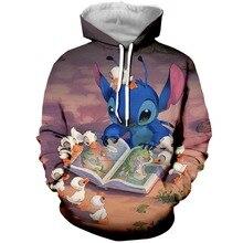 PLstar Cosmos 2019 New Anime Stitch 3d  Printed Men Women Hoodie Casual Sweatshirt Tracksuit Music Unisex Pullover Streetwear