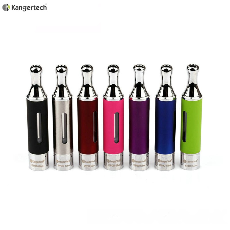 Hot selling Pyrex Glass dual coil bottom heatingl Clearomizer Kanger Evod Glass with evod protank