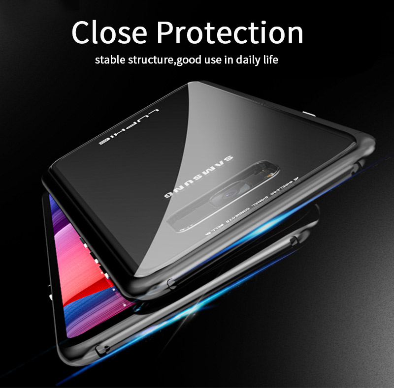 LUPHIE Magnetic Adsorption Case For Samsung Galaxy S9 S8 Plus Magnet Case Metal Bumper (17)