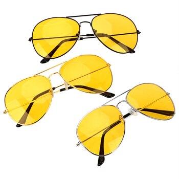 Anti-glare Polarizer Sunglasses  Copper Alloy Car Drivers Night Vision Goggles Polarized Driving Glasses Auto Accessories
