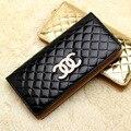 Clásico de la marca del modelo del diamante larga mujer bolso de embrague monedero mujeres del diseñador billetera bolsos femeninos monedero bolsa de la moneda en venta 2.5