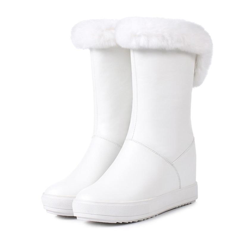 Женская обувь; коллекция 2019 года; зимняя теплая женская обувь на плоской подошве, увеличивающая рост; Повседневные Вечерние туфли на плоской подошве для свиданий - 4