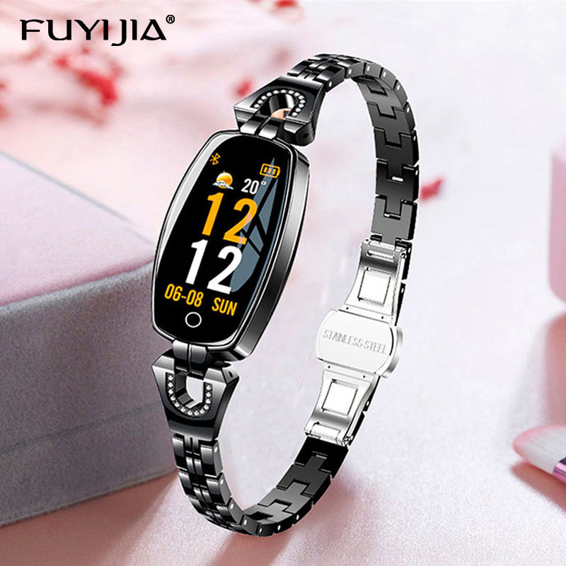 FUYIJIA Dress Smart Watch Woman Relogio Lady Clock Waterproof Smartwatch Heart Rate Sleep Monitoring Sports Watches Android IOS