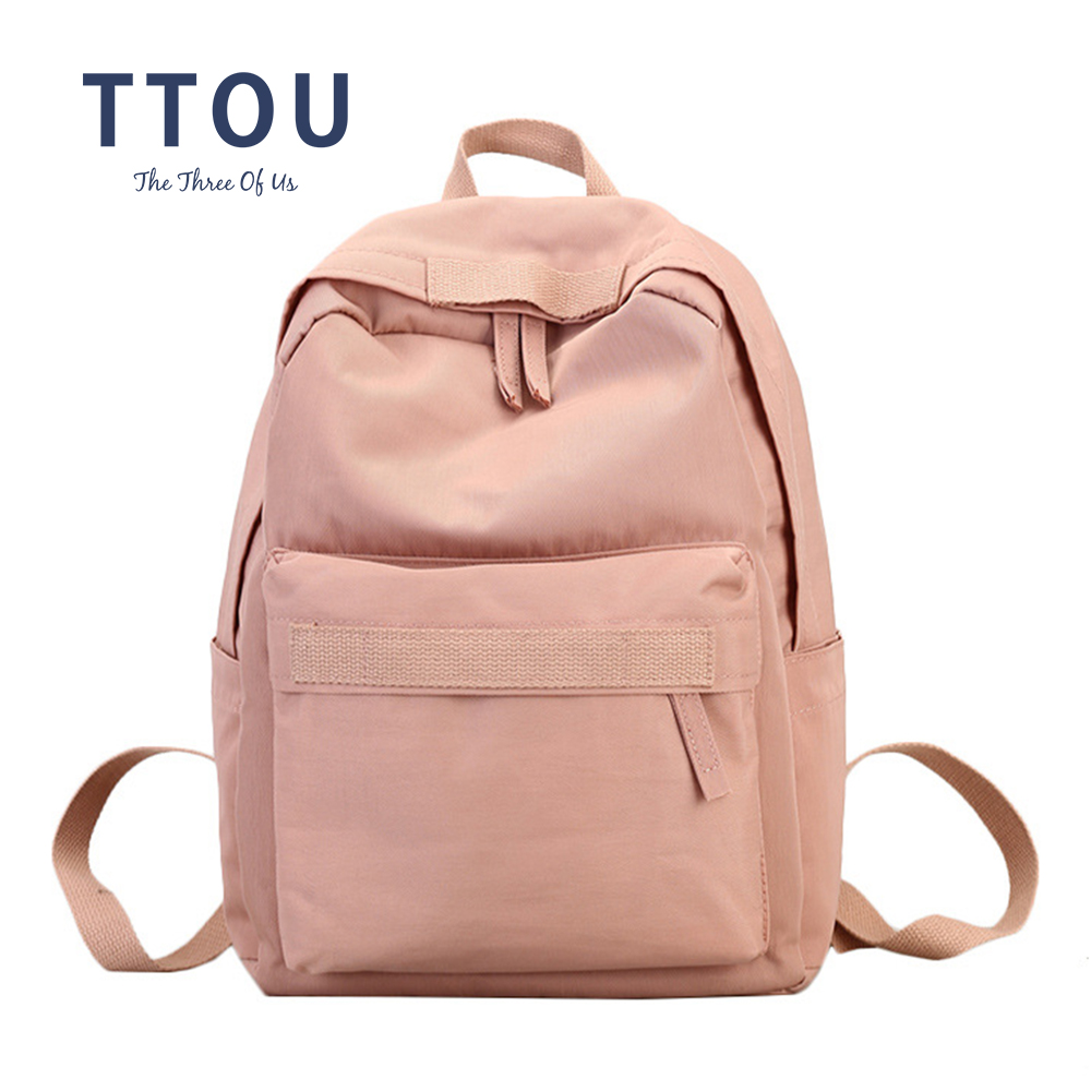 TTOU Women Backpack Teenage Girls Preppy Style School Bag Waterproof Fabric Backpacks Female Bookbag Mochila
