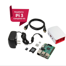 Raspberry Pi 3 COMPLETE Starter Kit, noir, 16 GB Édition Ip3 Modèle B Ordinateur Barebones Carte Mère 64bit Quad-Core CPU 1 GB RA