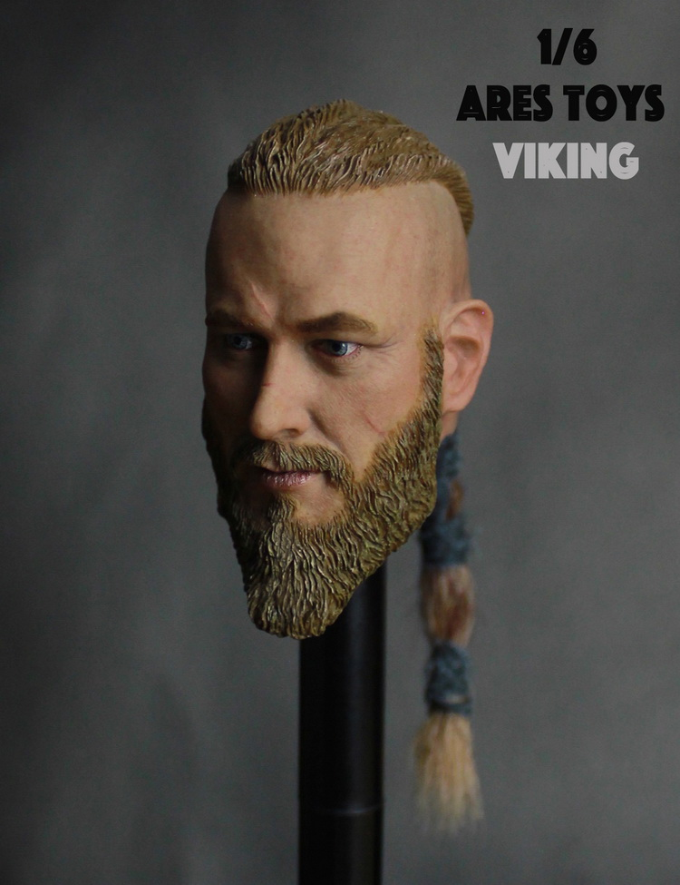 1/6 Scale Action Figure Doll Accessory Headsculpt Vikings Season Viking Ragnar Lothbrok Head Shape,Not Included Body And Clothes