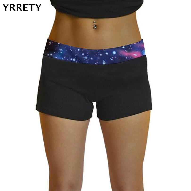 YRRETY Ladies Summer Casual Spandex Shorts Women Breathable Elastic Waist Short Fitness Workout Shorts Sporting Push Up Short