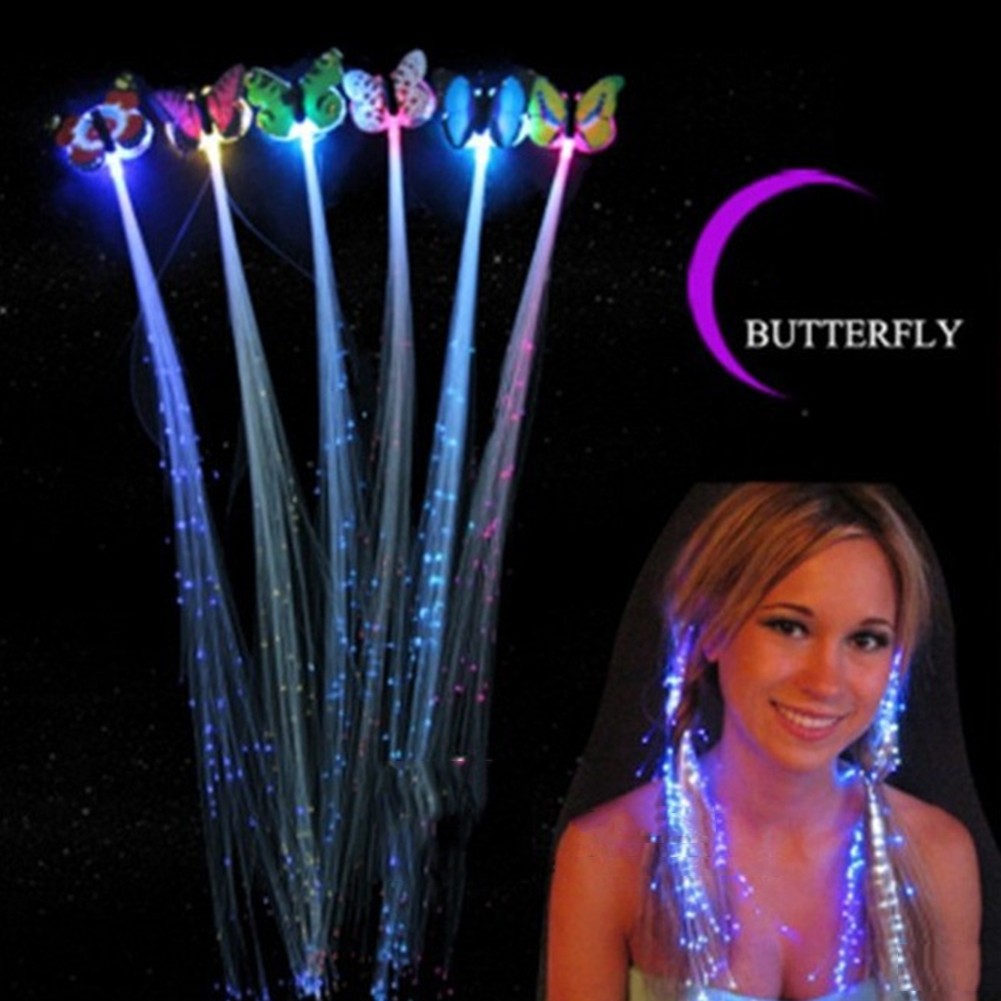 Party LED Shining Headwear Glow Hair Braids Flash LED Fiber Hairpin Clip Light Up Headband Party Glow Hair Accessories