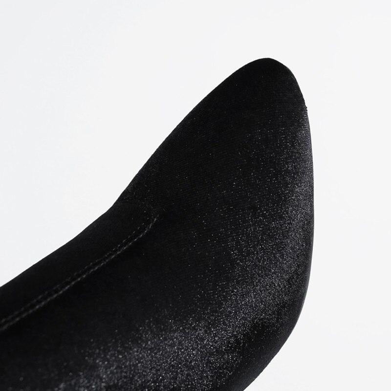 Pointu Chaussures Rouge Prix Noir Faible Super Et Affaires Bottes À 47 34 Femme Taille vin 2018 Nouvelle Bout Cheville Doux Style Haute vert Mode Qualité wYnq1xTS