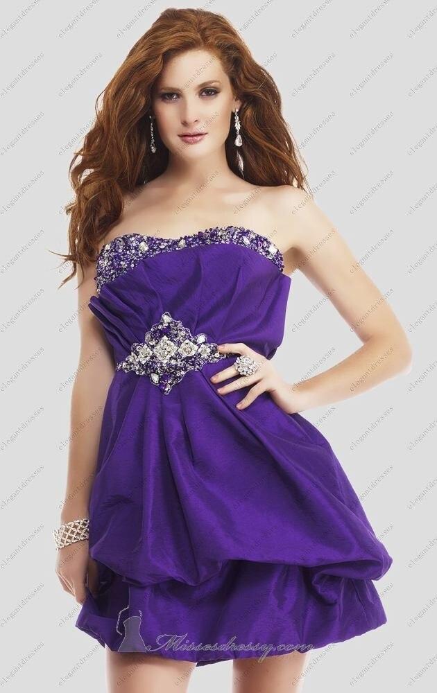 Asymmetrical Purple Prom Dresses – fashion dresses