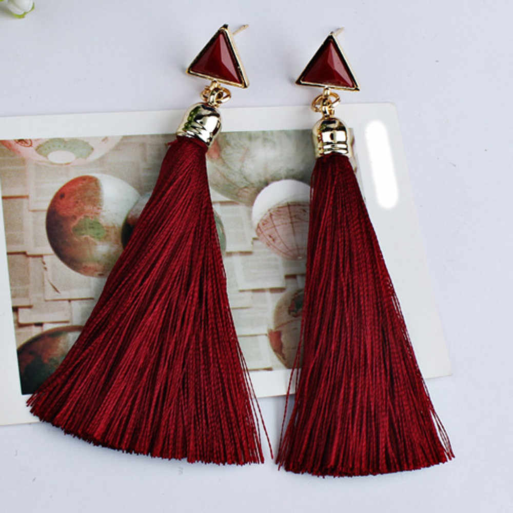 Bohemian Women Earrings Ethnic Hanging Rope Tassel Earrings Jewelry Accessories Ornaments Flawless Oorbellen Pendant Bijoux