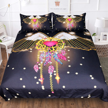 Big Wings Dream Catcher Bedding Set Luxury Heart Shine Black Comforter Sets Queen King Full Twin Bedclothes Home Textile