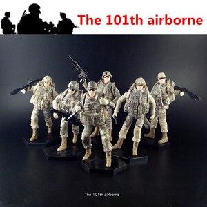 Image 1 - [6 pçs/lote 1:18 o 101th airborne eua amry figura de ação soldados articulações brinquedos móveis nova caixa