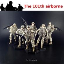[6 pz/lotto] 1:18 il 101th Airborne USA Amry Action Figure giunti dei soldati giocattoli mobili nuova scatola