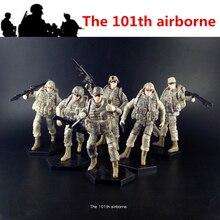 [6 unids/lote] 1:18 the 101th Airborne USA Amry figura de acción articulaciones de soldados juguetes móviles nueva caja