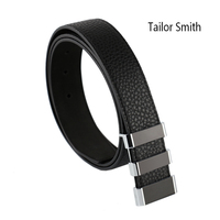 Tailor Smith Mens Luxury Top Grain Genuine Leather Belt Black Crocodile Classical Formal Pin Buckle Business