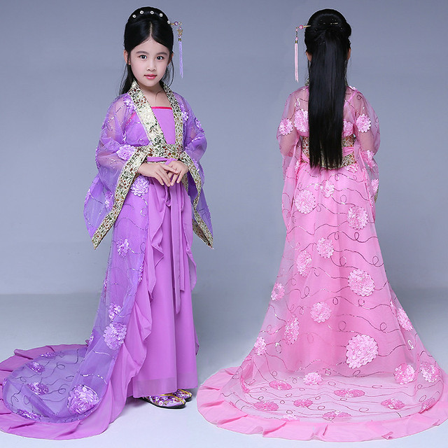 581b4afdabfa Children Tailed Fairy Costume Girl Tang Royal Princesses Dance ...