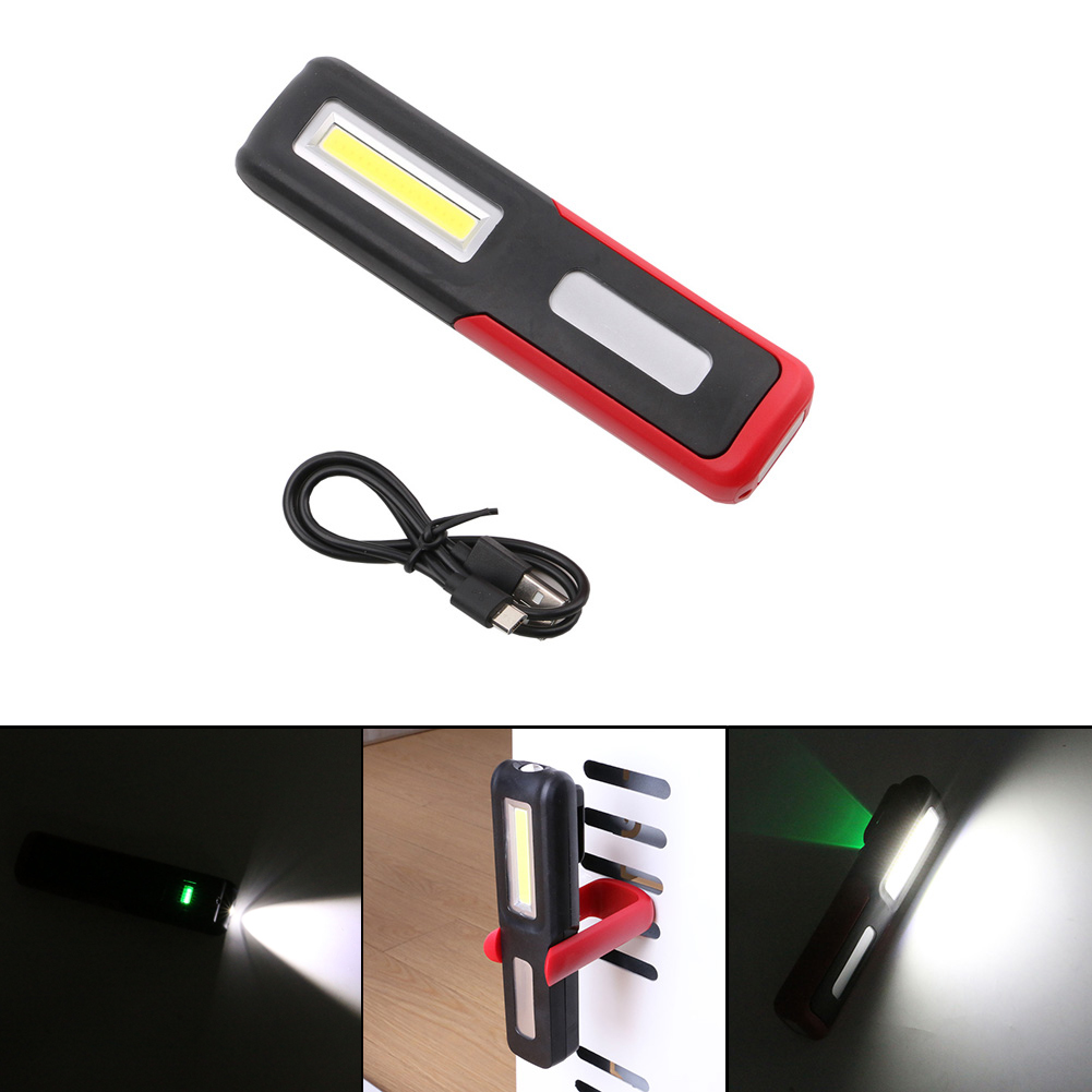 2 Modes XPE COB LED USB Rechargeable Flashlight Super Bright Torch Light Built In Battery Magnet LED Light USB Cable Hook Light 200lm usb rechargeable portable mini flashlight magnet camping light lamp 16 3014led 4 modes torch built in lithium battery
