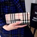 De lujo Británico Celosía Mujeres Classic Plaid Pu Del Cerrojo Larga Cartera Embrague de Las Señoras nuevo Diseño Titular de la Tarjeta Monedero Feminina