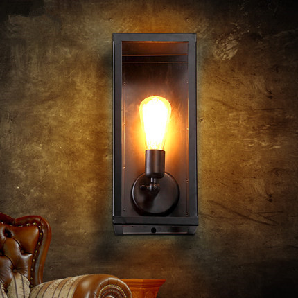 Vintage loft filament narrow box wall lamps industrial glass wall vintage loft filament narrow box wall lamps industrial glass wall sconce for home outdoor light fixture lamparas de pared in wall lamps from lights workwithnaturefo