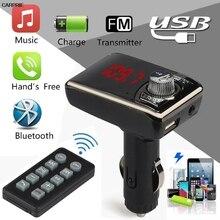 CARPRIE transmisor fm Manos Libres Bluetooth Kit de Coche Reproductor de MP3 Transmisor Inalámbrico de FM modulador USB SD TF Remoto TJ