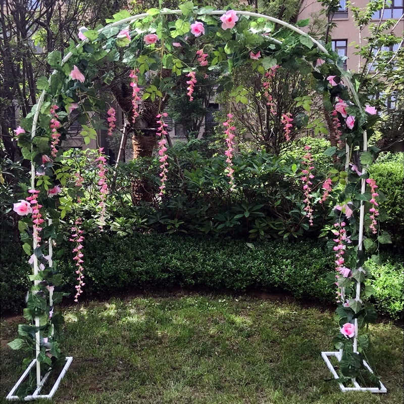 Bridal Arch Frame Background Decoration Cherry Blossom Arch  Flower Stand Door Wedding Party Decoration Props