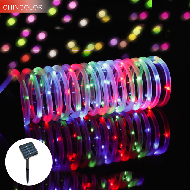 12m 100leds solar light string outdoor garden rope tube fairy 12m 100leds solar light string outdoor garden rope tube fairy christmas garlands copper led light fence mozeypictures Choice Image