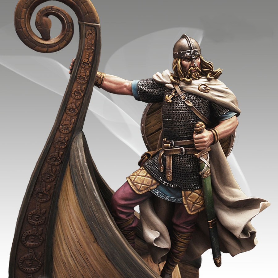 New Unassembled 1:24 75mm  VIKING IXC Figures  Resin Kit DIY Toys Unpainted Kits