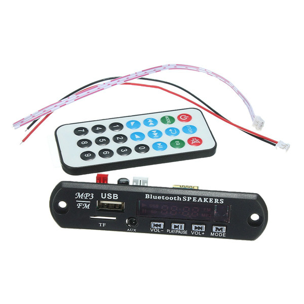 Car Bluetooth MP3 WMA Decoder Board 12V Wireless Audio Module USB TF Radio Decoding board DIY Starter Kit dra818u uhf band ham radio wireless audio module dark blue silver