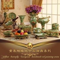 European resin vase paper towel box ashtray fruit wine holder Home Furnishing set decoration living room decorations