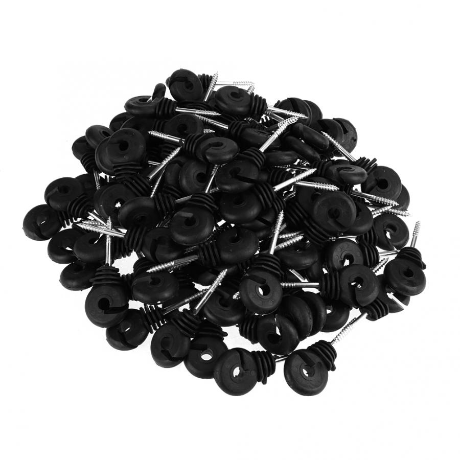 uxcell 10pcs Wood Post Nail-On Polyrope Insulator for Electric Fence Wire White