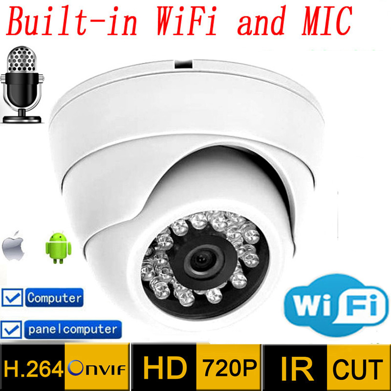 Ip Camera wifi hd Audio 720p CCTV Systems MIC Wireless P2P Indoor Dome Kamera Infrared Mini Onvif H.264 IR Night Vision Cam hjt hd wireless ip camera 720p wifi ir night vision cctv outdoor security network p2p h 264 onvif 2 1 camhi surveillance