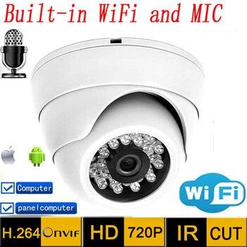 цена на Ip Camera wifi  hd Audio 720p CCTV Systems MIC Wireless P2P Indoor Dome Kamera Infrared Mini Onvif H.264 IR Night Vision Cam