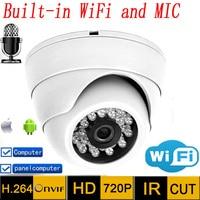 HD Wifi Ip Camera Audio 720p CCTV Systems MIC Wireless P2P Indoor Dome Kamera Infrared Mini