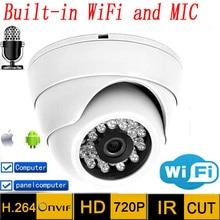Ip Kamera wifi hd Ses 720 p CCTV Sistemleri MIKROFON Kablosuz P2P Kapalı Dome Kızılötesi Mini Onvif H.264 IR gece Görüş