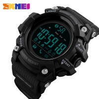 SKMEI 1385 Men's Digital Smart Watch Man Bluetooth Sports Wristwatch Pu Strap Calorie Calculation El Back Light Wrist Watch