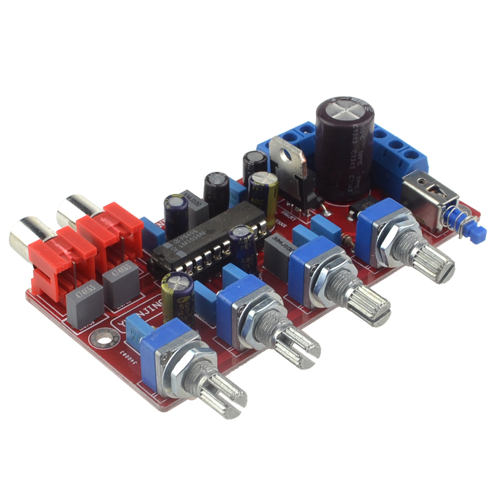 LM1036 OP AMP HIFI Amplifier Preamplifier Volume Tone EQ Control Board for Amplifier Free Shipping with Track Number 12003193 in Amplifier from Consumer Electronics