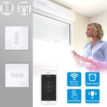 Electric Curtain Roller Shutter Smart WiFi Touch Switch voice control Google Home Amazon Alexa Echo App Timer Remote Control