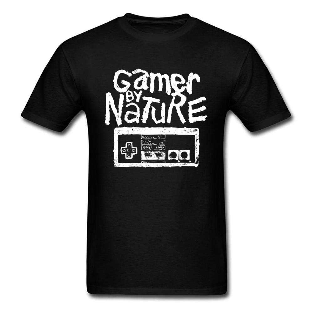New Buyer Men T Shirt Good Nice Shirt Cotton Summer Retro Game Print T-Shirts Gamer By Nature Electronic Control Unit Tshirt