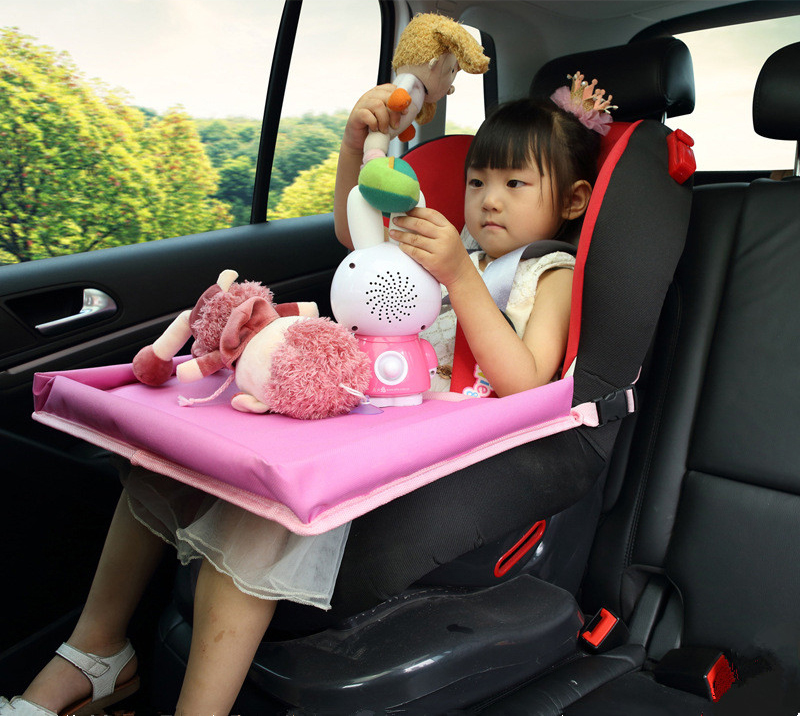 autoson children toy holder waterproof safety baby car seat table kids snack baby stroller travel tray