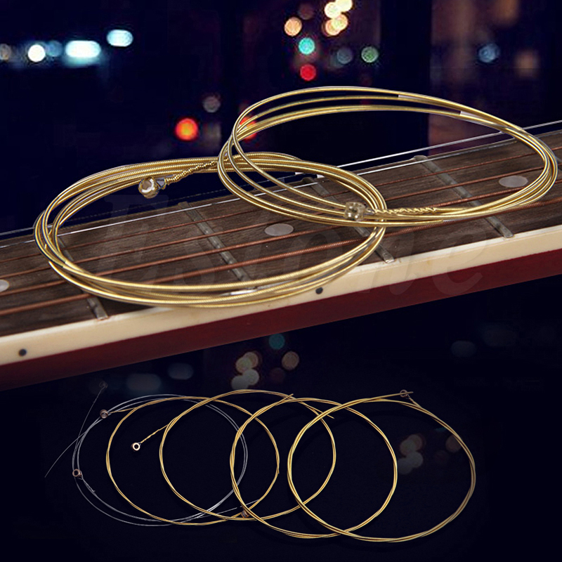 Set of 6pcs 150XL Copper Strings 1-6 for Acoustic Guitar savarez 510 cantiga series alliance cantiga normal high tension classical guitar strings full set 510arj